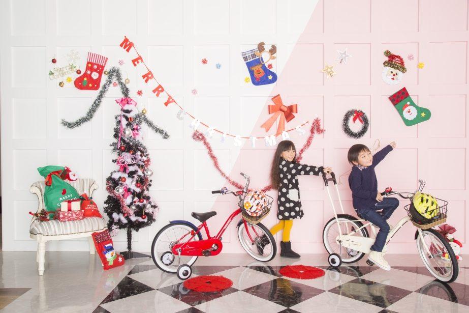 クリスマス撮影 自転車のあさひ